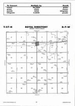 Royal Township Directory Map, Antelope County 2006
